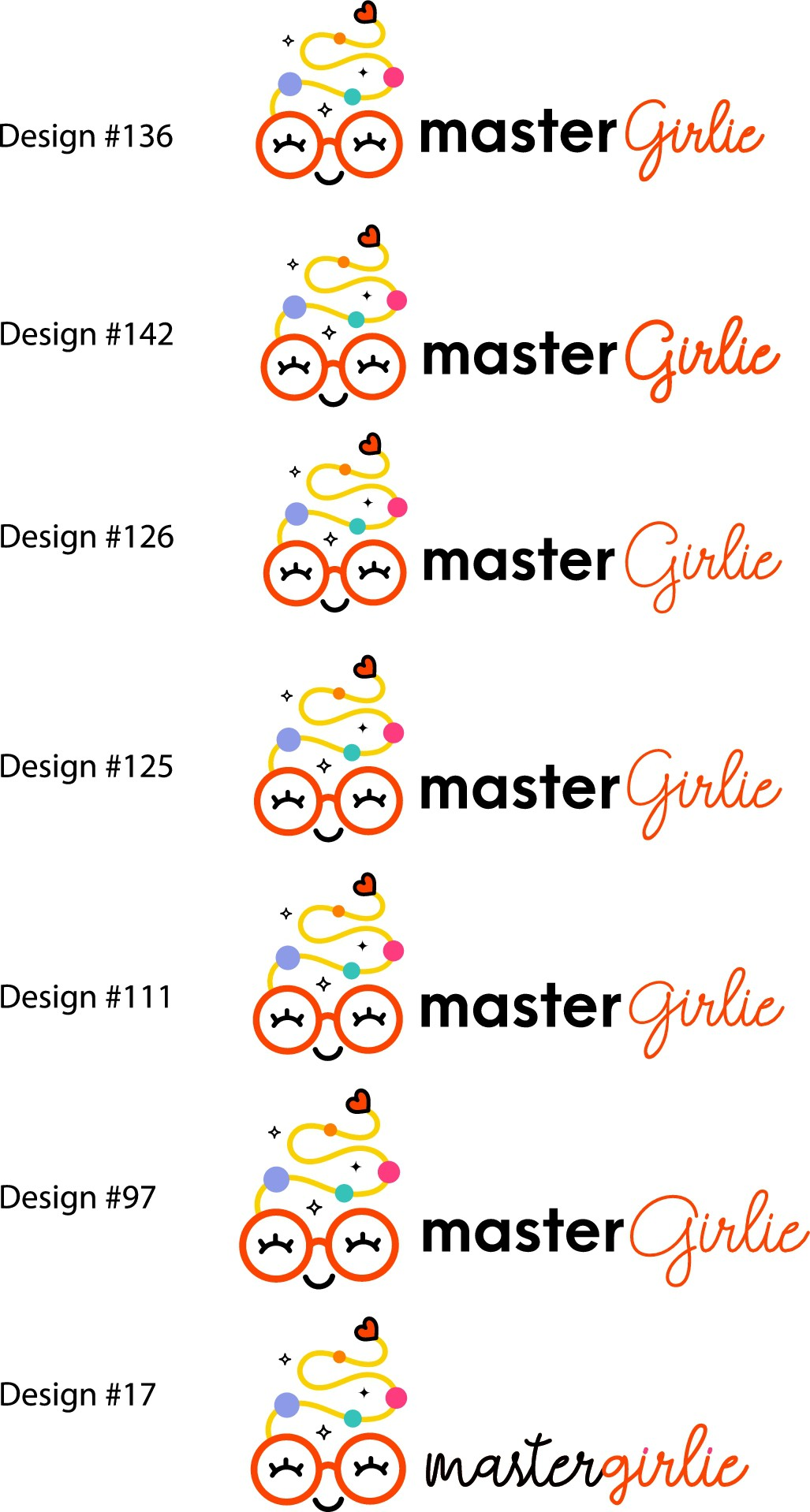Design a creative logo & powerful icon for masterGirlie
