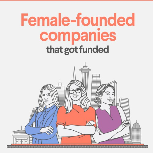 Female-founded company Infographic Design for 99designs blog