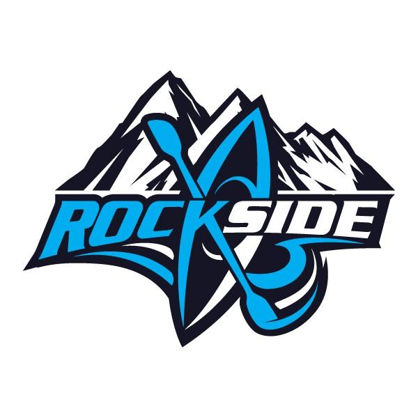 Create a logo for a canoe & kayak brand named Rockside