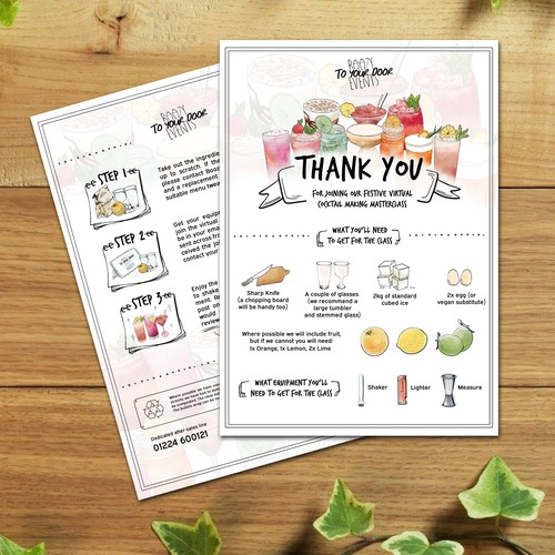 Instruction Card For Coctail Virtual Event
