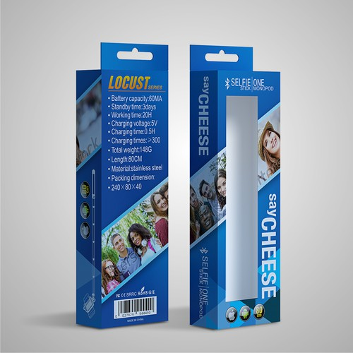 SAY CHEESE - SELFIE STICK BOX PACKAGING