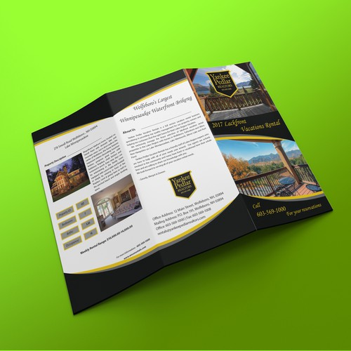 tri-fold Brucher design for Yankee Pedlar Realtors