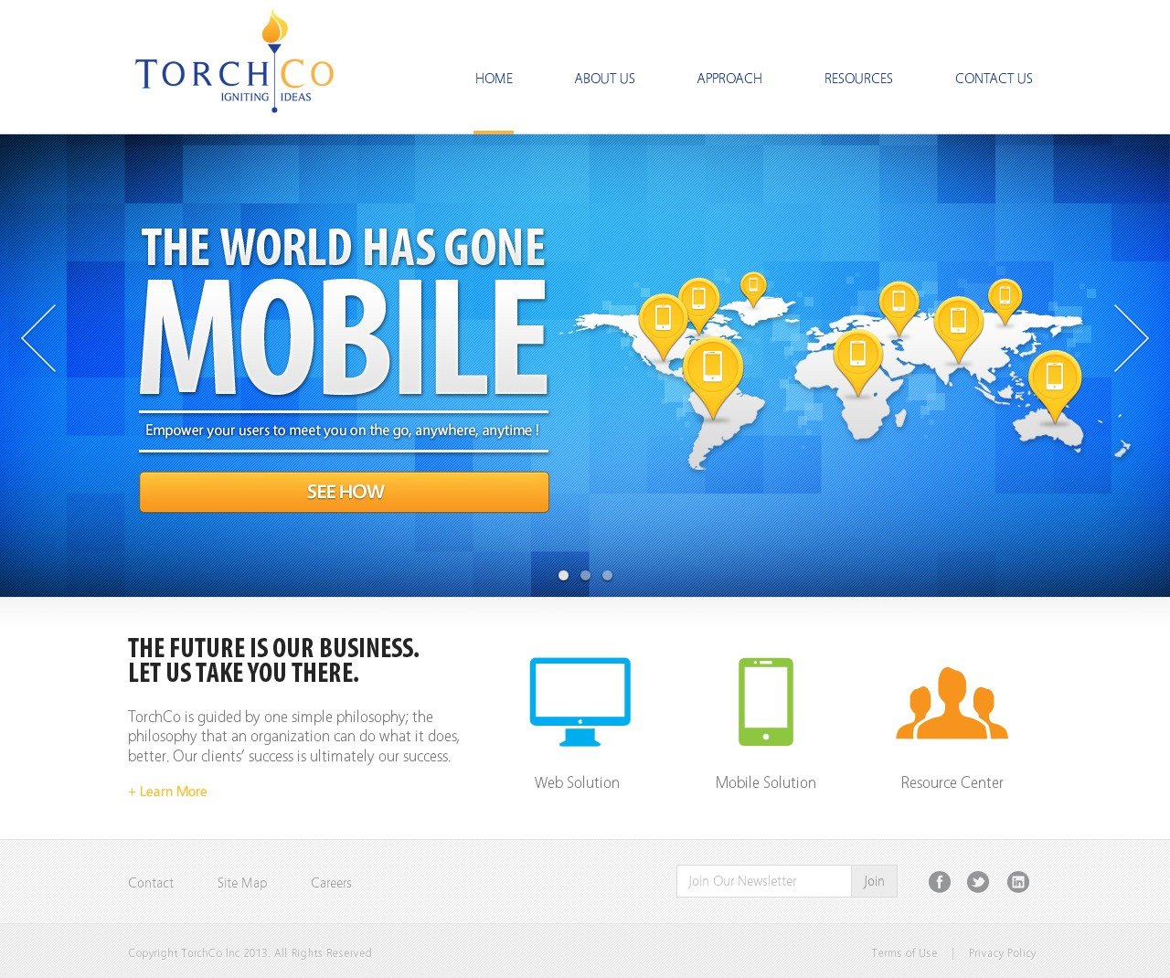 New website design wanted for TorchCo Inc.
