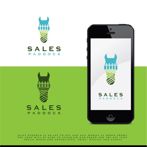 horse sell and show logo design. app logo.