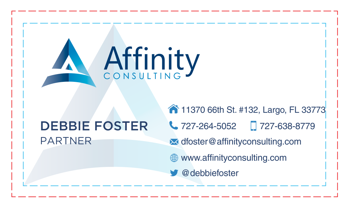 Slight adjustment to our business cards