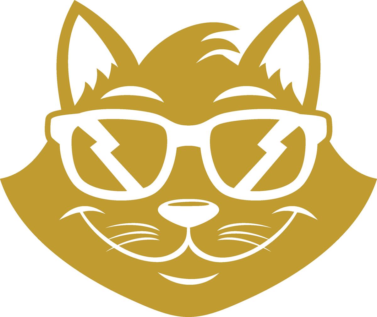Gold Cat Silhouette