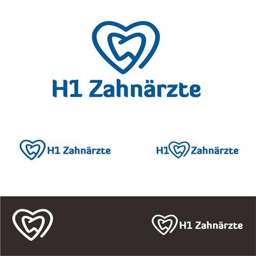 H1 Zahnarzte Logo Design