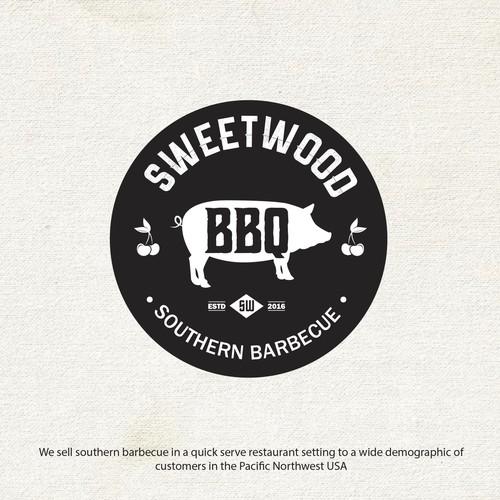Logo design concept for a southern barbecue