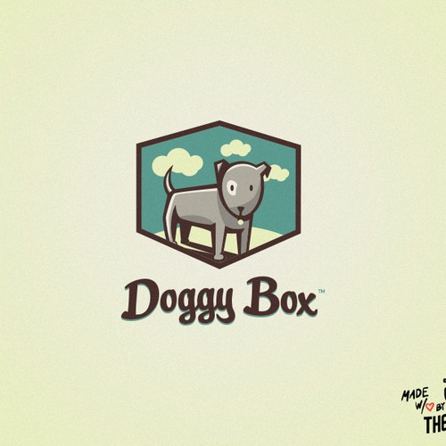 """Doggy Box"" the subscription box for dogs. Logo & Business Card"