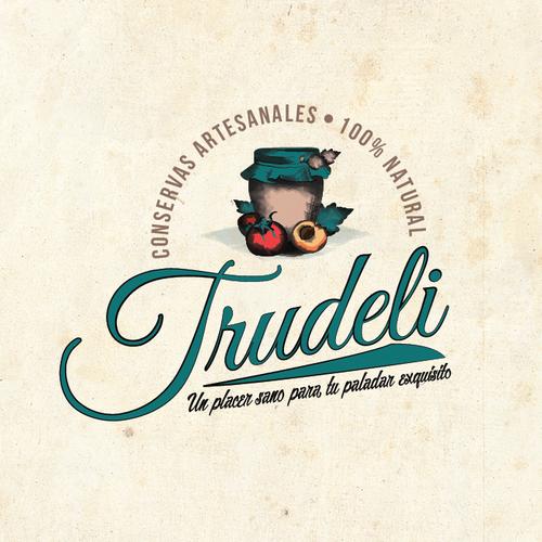 Bold logo for Trudeli