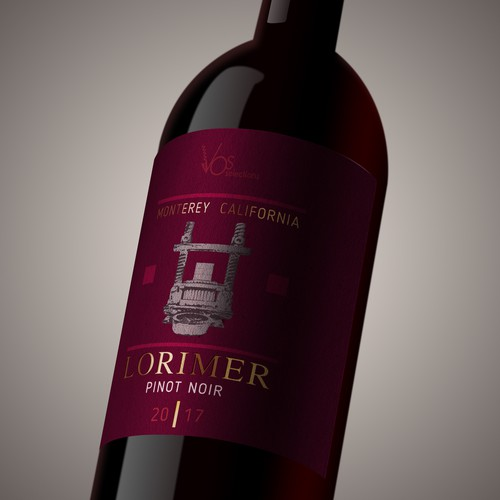 Wine label LORIMER_PN_