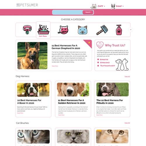 Blog design for pets