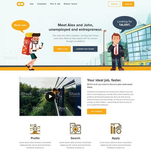 Creative website for recruiting website