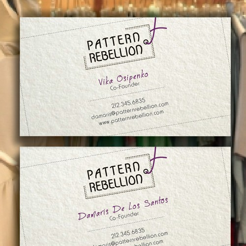 Create the next stationery for Pattern Rebellion