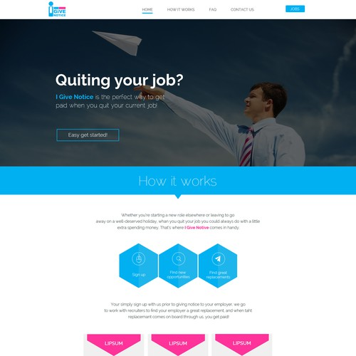 Create a single scrolling website for HR & Recruiting