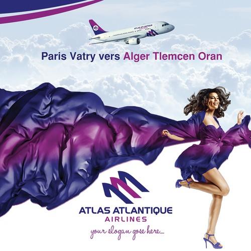 Poster Design for ATLAS ATLANTIQUE Airlines
