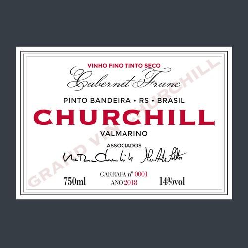 Diseño de etiqueta de vino clásica