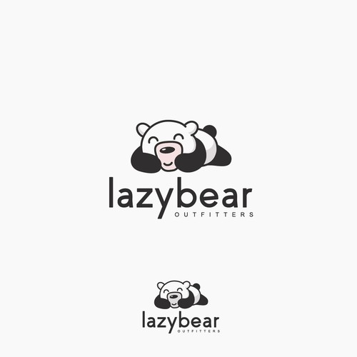 lazy bear logo design