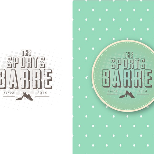 Create a vintage inspired logo for a boutique fitness studio, THE SPORTS BARRE