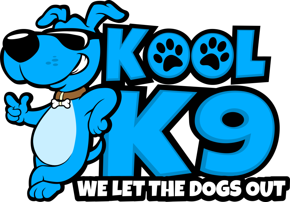Create a unique fun logo for Kool K9 doggy daycare.