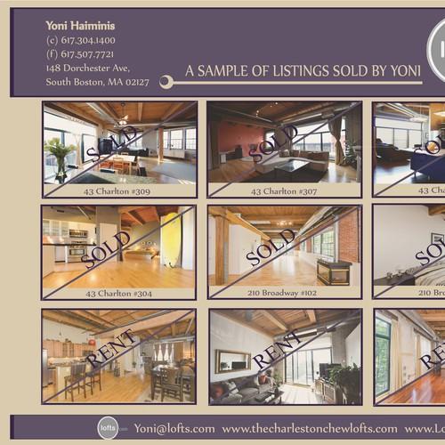 Large Format Postcard  Design for Lofts.com Real Estate Mailer