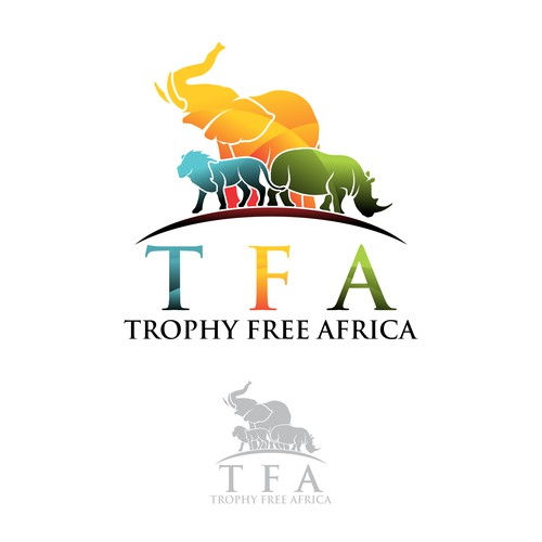 Worked lovingly. Hopefully this nature remains sustainable. (Logo For Trophy Free Africa)