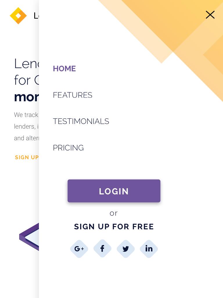 Landing page LenderSpotlight.ca