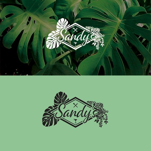 logo for restaurant, theme plants and greenery