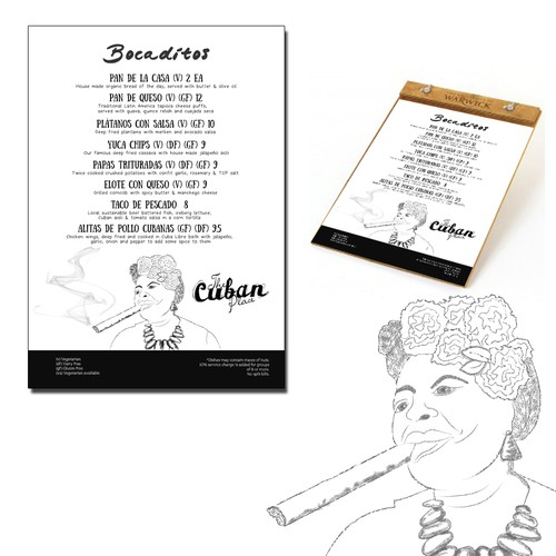 Menu for Cuban Place