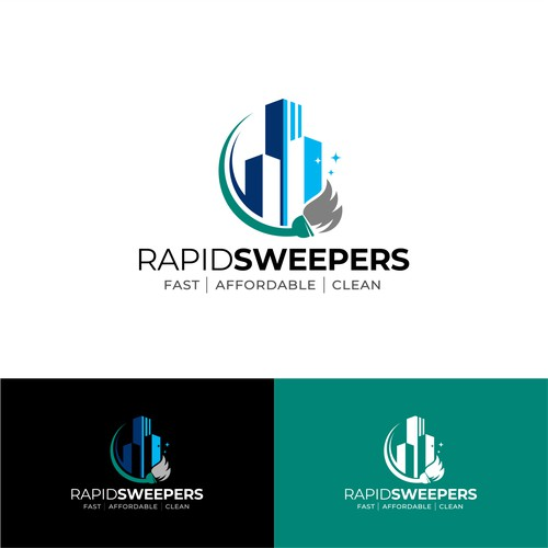 Bold logo for cleaning company
