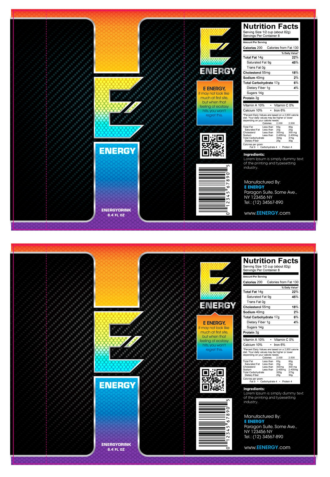 E Energy needs a new product label