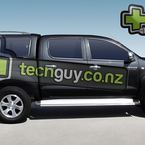 Create a mobile branding Sensation for the New Zealand Techguy's Truck