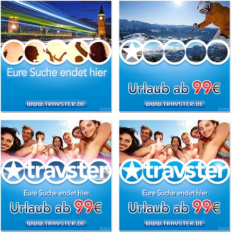 animated flash banners for travel agency