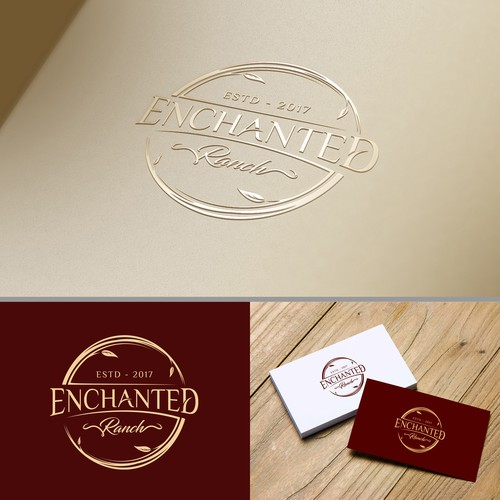 Stand logo for wedding venue in Texas, USA. Enchanting meets rustic