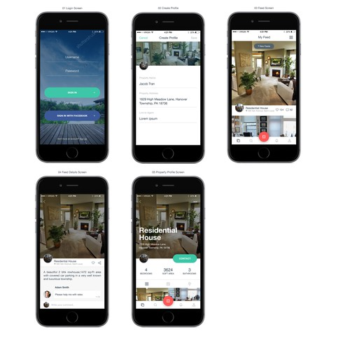 Instagram design concept for real estate business