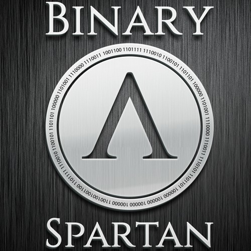 Create sharp, clean cut logo for data management company, Binary Spartan