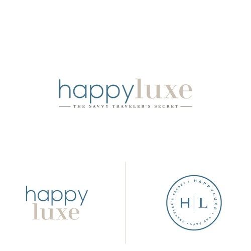 Typographic logo for HappyLuxe