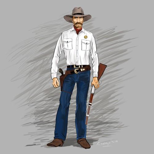 Texas Ranger Character.