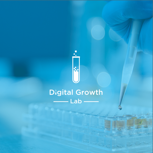 simple logo concept for digital growth lab