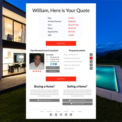 Next-generation real estate website