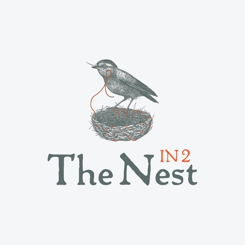 In 2 The Nest logo design with a smart bird