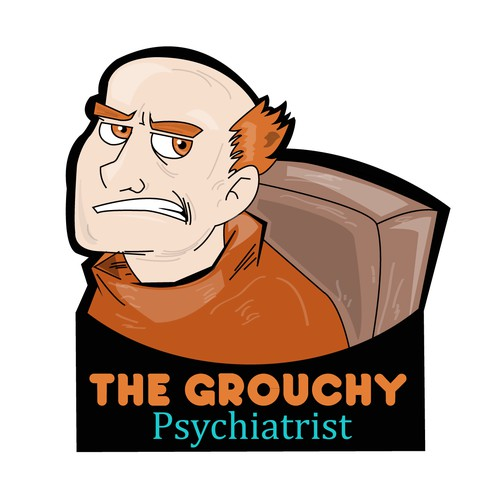 Create a fun cartoony logo for a mental health ppodcast