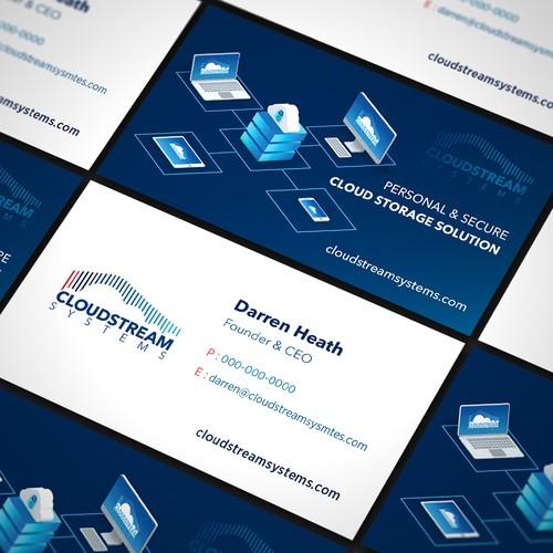 Tech Business Card with Custom 3D Render