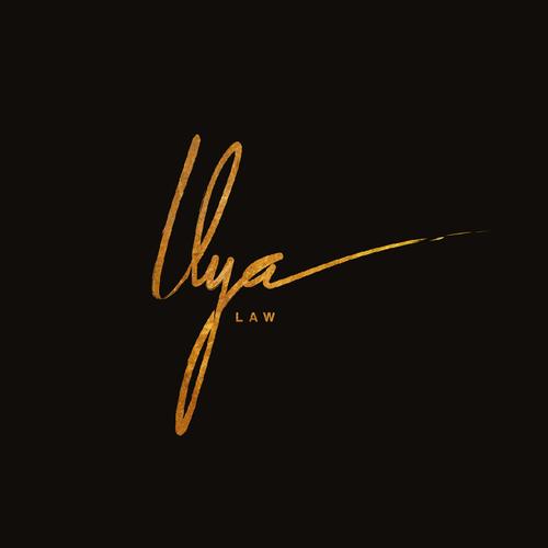 Custom lettering logo design for Ilya Law