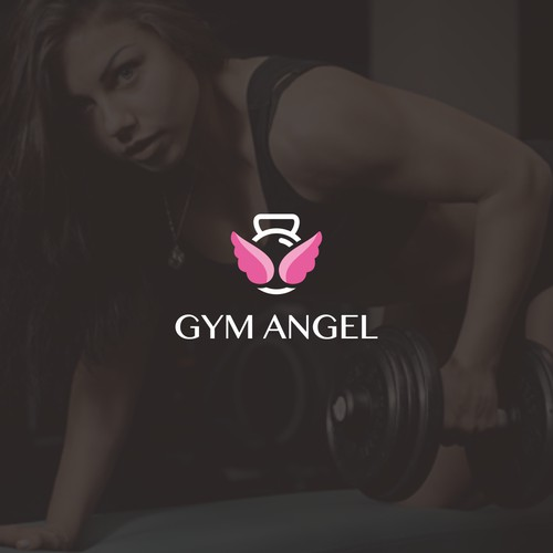 Bold and feminine logo for Gym Angel