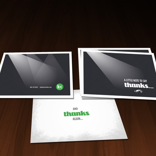 Classy Thank-You card for Audio/Visual and production company