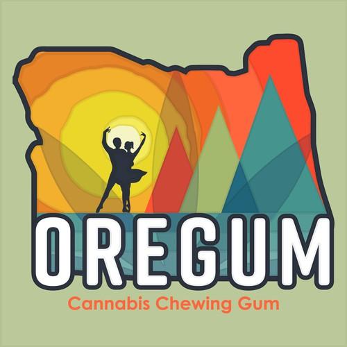 Oregum cannabis chewing gum made in Oregon