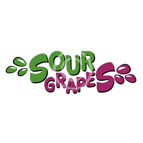 Sour Grapes Concept Logo