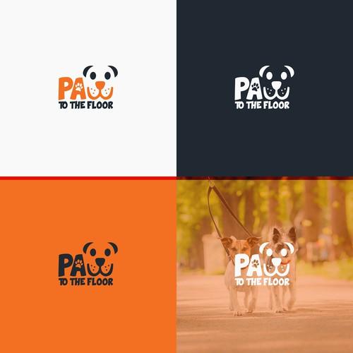 Logo for dog walking company