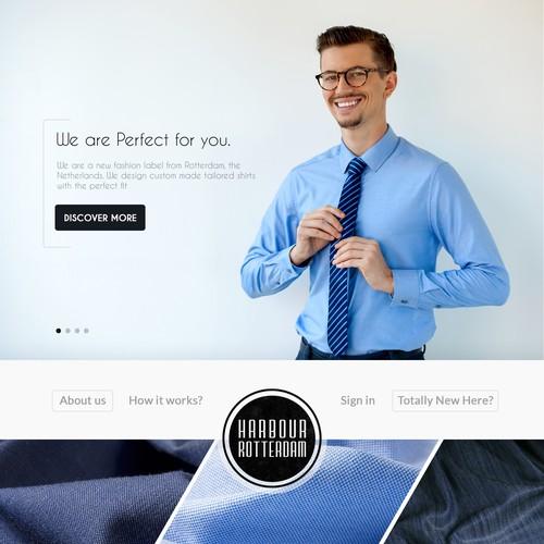 Website design for Tailor.